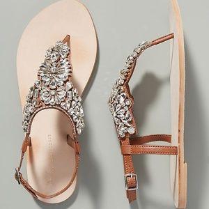 ANTHROPOLOGIE Shelley Crystal Embellished Sandals